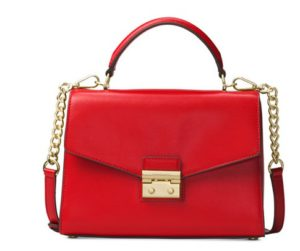 michael kors red handbag
