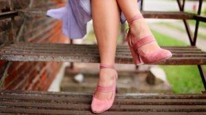 woman wearing shoes